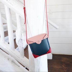 Handbags - Manu uk leather bag colorblocked orig $495 . Worn